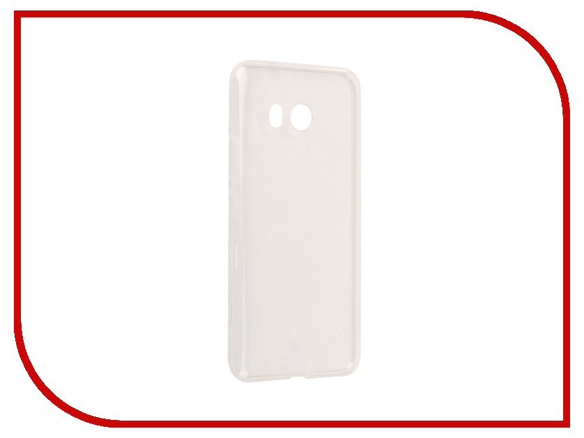 Аксессуар Чехол для HTC U11 Svekla Silicone Transparent SV-HTUU11-WH аксессуар защитное стекло htc one m10 brosco 0 3mm htc m10 sp glass htc 10 sp glass
