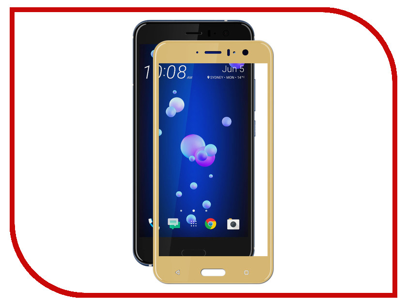 Аксессуар Защитное стекло для HTC U11 Svekla Full Screen Gold ZS-SVHTCU11-FSGOLD свеча q20pr u11 применяемость