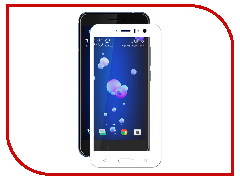 Аксессуар Защитное стекло HTC U11 Svekla Full Screen White ZS-SVHTCU11-FSWH аксессуар защитное стекло huawei honor 6c svekla zs svhwh6c