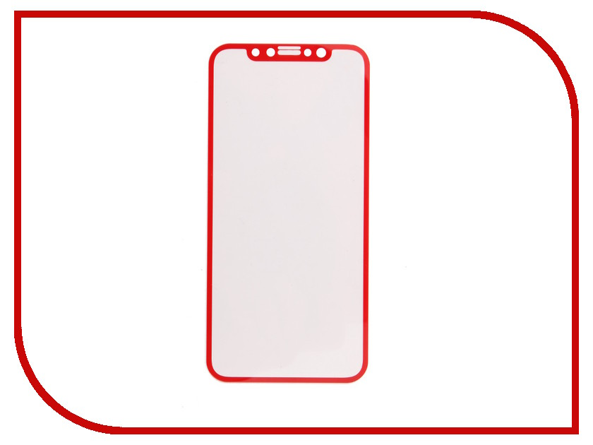Аксессуар Защитное стекло Svekla Full Screen для APPLE iPhone X Red ZS-SVAPX-FSRED аксессуар защитное стекло activ 3d red для apple iphone 7 plus 69759