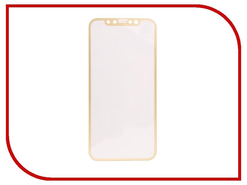 Аксессуар Защитное стекло Svekla Full Screen для APPLE iPhone X Gold ZS-SVAPX-FSGOLD