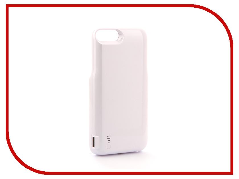 Аксессуар Чехол-аккумулятор Activ JLW 7PR-2 для iPhone 7 Plus/8 Plus 7200mAh White 77568 аксессуар чехол накладка micromax canvas viva a106 activ silicone black mat 46857