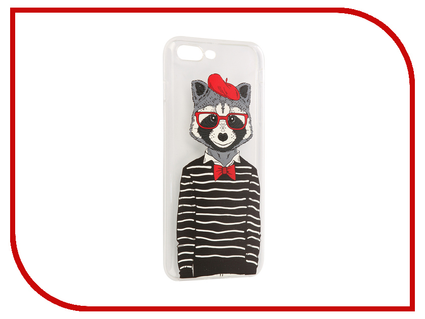 Аксессуар Чехол iPapai Hipsta Animals Енот Silicone для APPLE iPhone 7 Plus 120005_7+SL