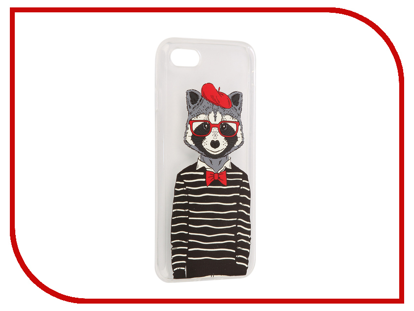 все цены на Аксессуар Чехол iPapai Hipsta Animals Енот Silicone для APPLE iPhone 7