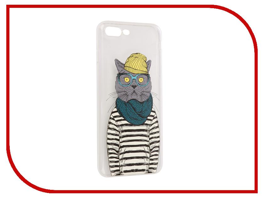 цена на Аксессуар Чехол iPapai Hipsta Animals Кот Silicone для APPLE iPhone 7 Plus