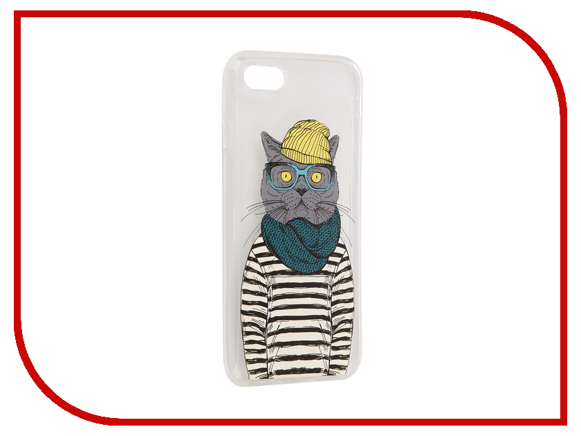все цены на Аксессуар Чехол iPapai Hipsta Animals Кот Silicone для APPLE iPhone 7 онлайн