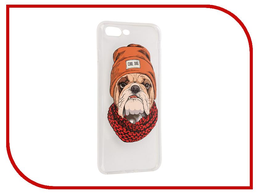 Аксессуар Чехол iPapai Питомцы Cool Dog Silicone для APPLE iPhone 7 Plus 120199_7+SL