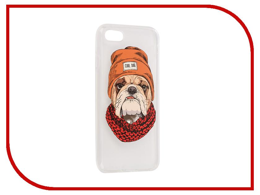 все цены на Аксессуар Чехол iPapai Питомцы Cool Dog Silicone для APPLE iPhone 7 онлайн