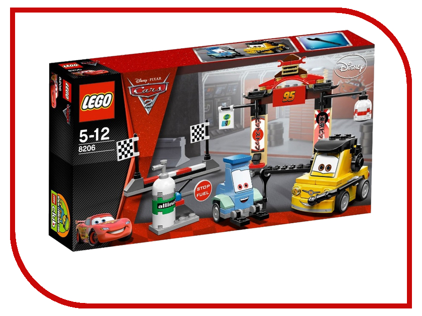 Конструктор Lego Cars Токийский Пит Стоп 8206 стоп сигнал