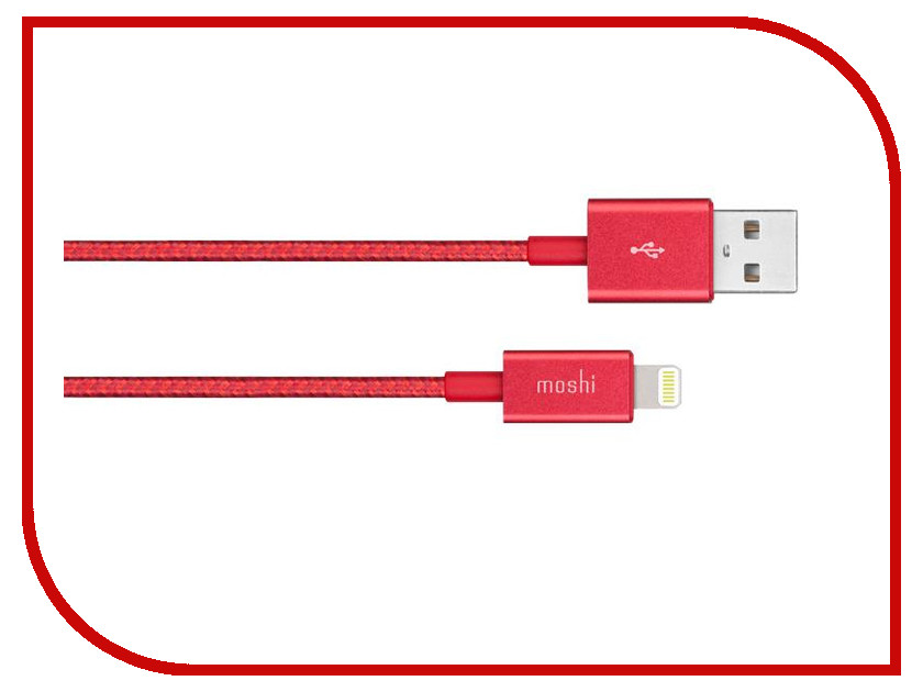Аксессуар Moshi Integra Lightning to USB Cable 1.2m Red 99MO023321 moshi monsters monsteriffic comic collection