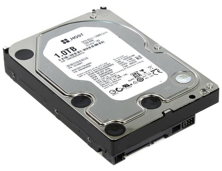 Жесткий диск HGST Ultrastar 7K2 1Tb HUS722T1TALA604 / 1W10001 жесткий диск hgst 0b31231 huc101812css204 ultrastar c10k1800