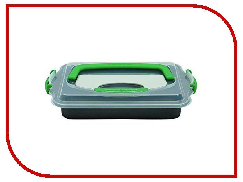 Противень с крышкой и инструментом для нарезания Berghoff Perfect Slice 36x27x5cm 1100052 форма для выпечки berghoff perfect slice круглая с инструментом для нарезания диаметр 22 см