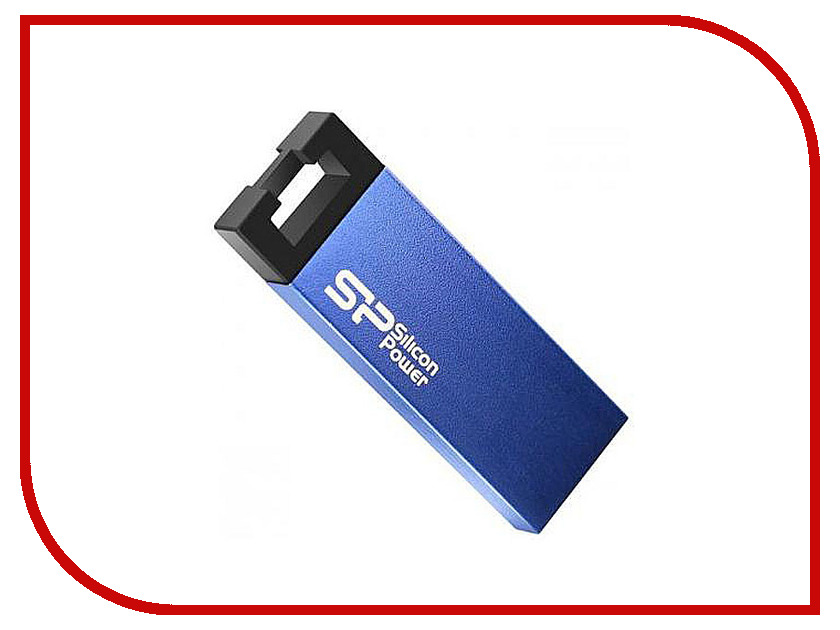 USB Flash Drive 16Gb - Silicon Power Touch 835 Blue SP016GBUF2835V1B usb flash drive 8gb silicon power touch t01 black sp008gbuf2t01v1k