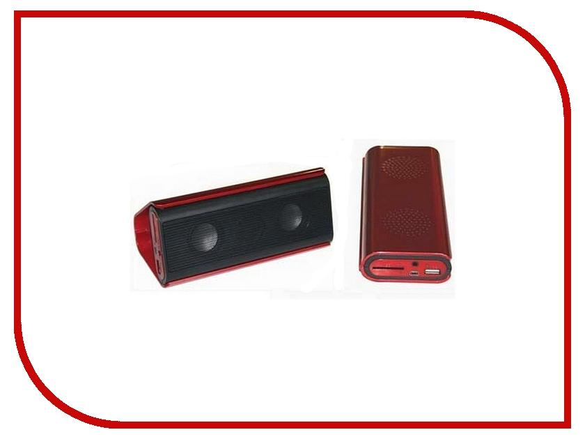 Колонка Espada Music Box 18-FM Red - мини-колонка со встроенным MP-3 плеером и радио<br>