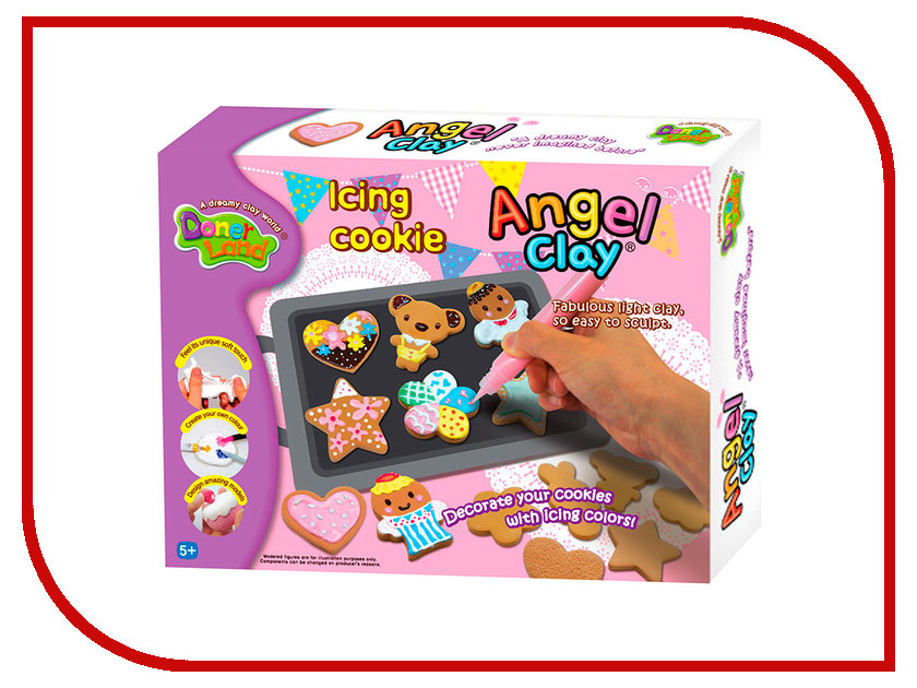 Набор для лепки Donerland Angel Clay Icing Cookies AA13091 angel clay аа07011s масса для лепки смешарики