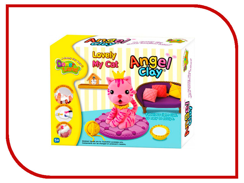 Набор для лепки Donerland Angel Clay Lovely My Cat AA07021 angel clay аа07011s масса для лепки смешарики