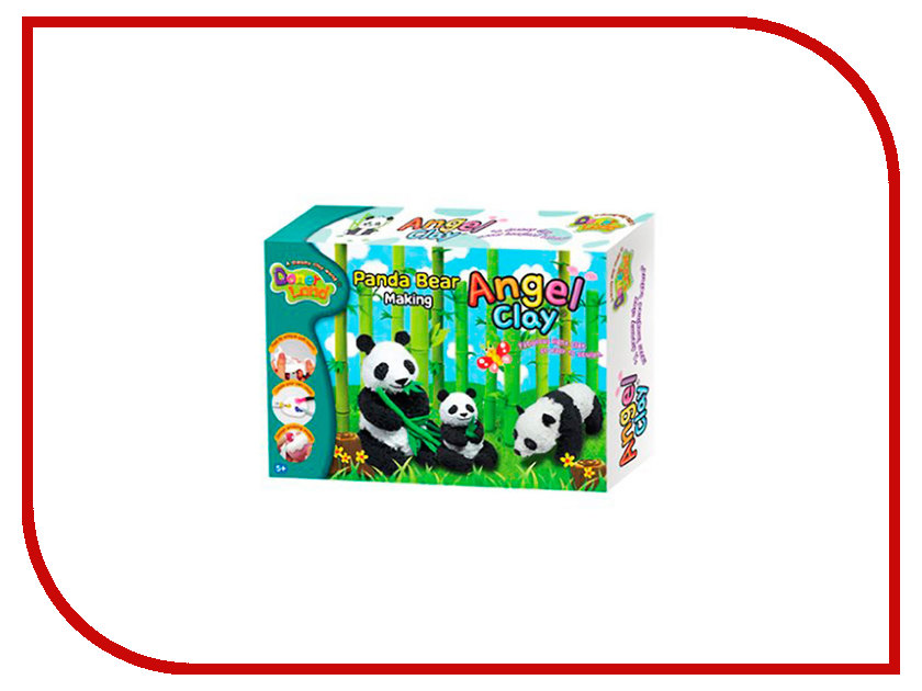 Набор для лепки Donerland Angel Clay Panda Bear Making AA02031 angel clay аа07011s масса для лепки смешарики