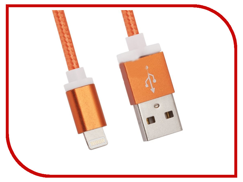Аксессуар Liberty Project Кабель USB - Lightning 1.5m Orange 0L-00027328