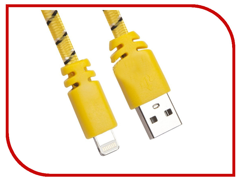Аксессуар Liberty Project Кабель USB - Lightning Yellow 0L-00030339