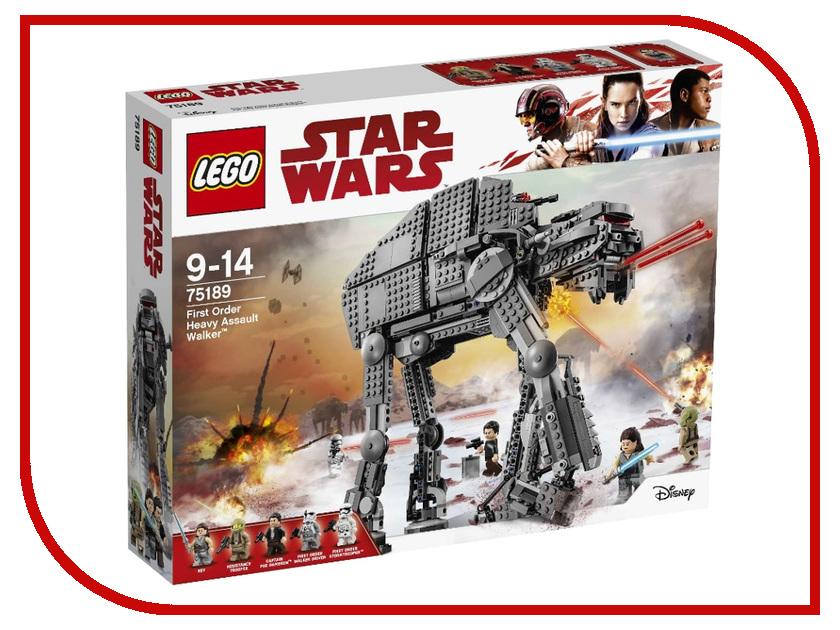 Конструктор Lego Star Wars Штурмовой шагоход Первого Ордена 75189 конструктор lego star wars тяжелый разведывательный шагоход первого ордена 75177 l