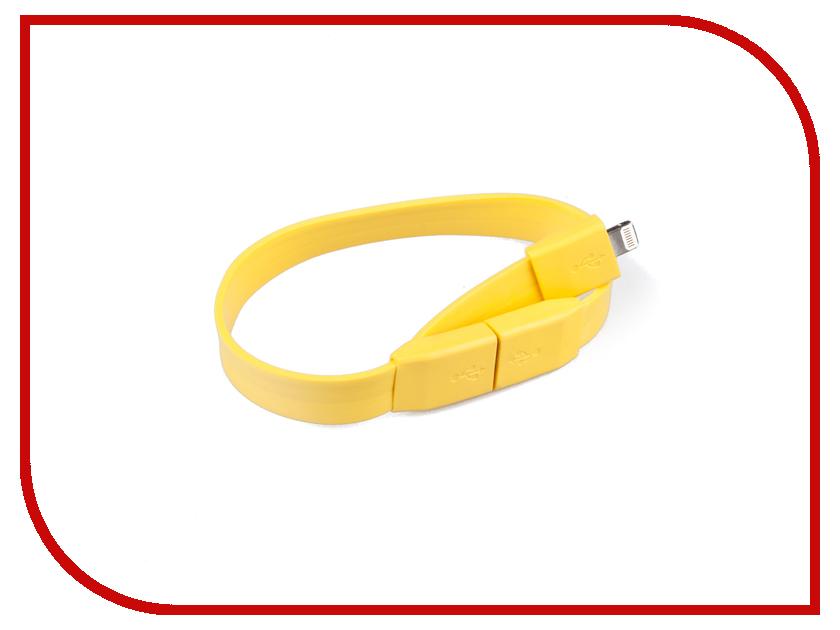 Аксессуар Liberty Project Кабель Браслет USB - Lightning Yellow SM001782