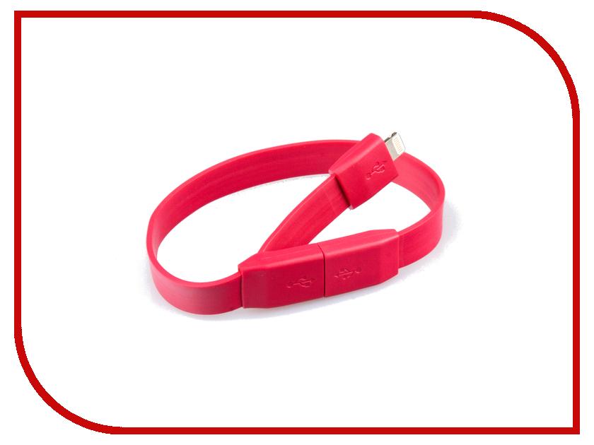 Аксессуар Liberty Project Кабель Браслет USB - Lightning Red SM001779