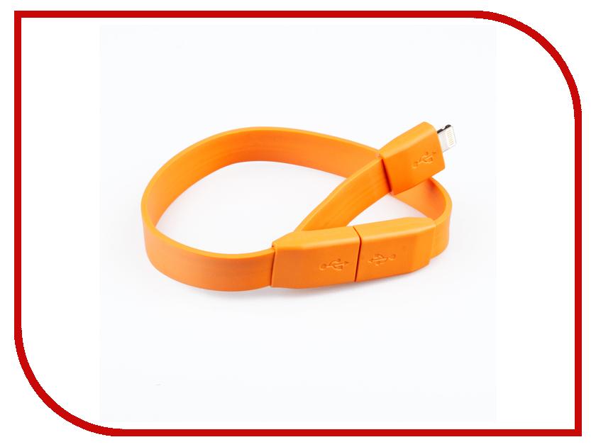 Аксессуар Liberty Project Кабель Браслет USB - Lightning Orange SM001783