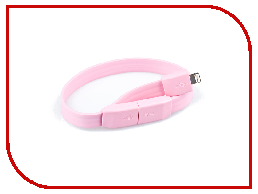 Аксессуар Liberty Project Кабель Браслет USB - Lightning Pink SM001778
