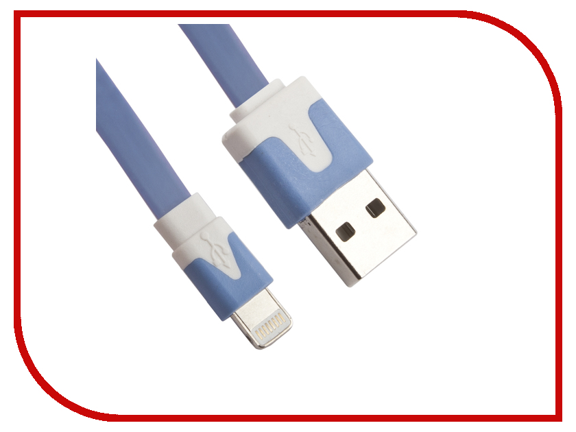 Аксессуар Liberty Project Кабель USB - Lightning Blue R0003905