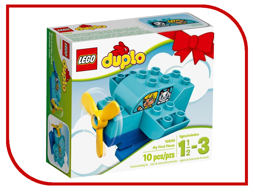 Конструктор Lego Duplo My First Мой перный самолёт 10849 конструктор lego 41308 кондитерская стефани