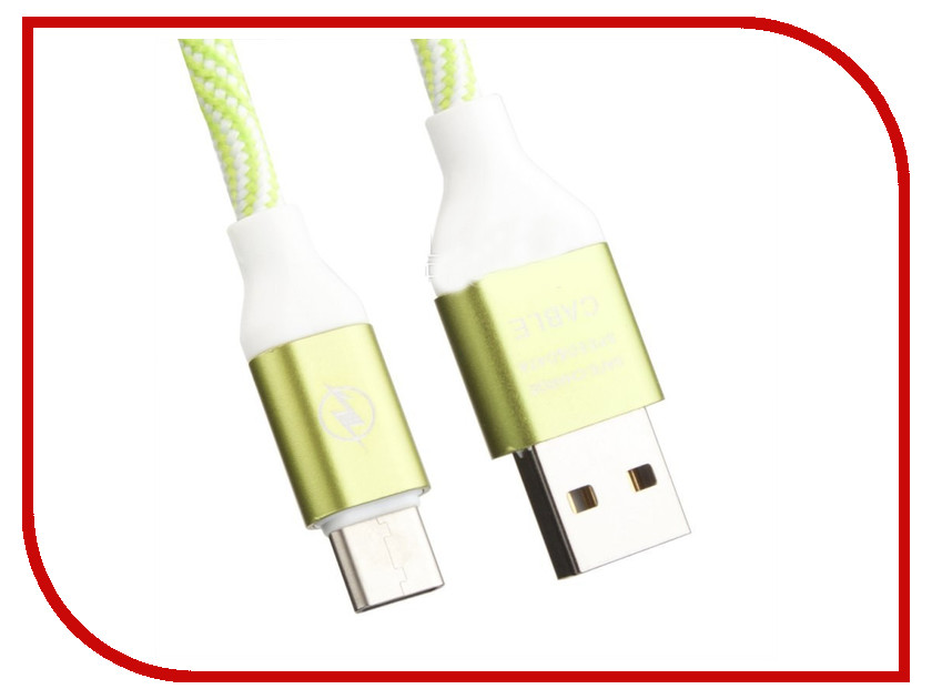 Аксессуар Liberty Project USB - USB Type-C Волны 1m Green-White 0L-00033145 аксессуар greenconnect type c usb 3 0 1m gcr uc3am 1m gc uc3am 1m
