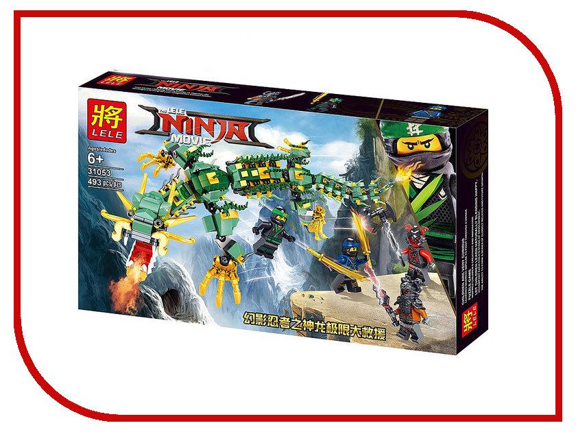 Конструктор Lele Ninja Механический Дракон Зелёного Ниндзя 493 дет. 31053 конструктор bela ninja ниндзя сверхзвуковой рейдер 645 дет 31041