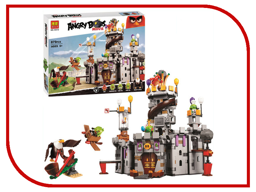 Конструктор Bela Angry Birds Замок короля свинок 879 дет. 10510