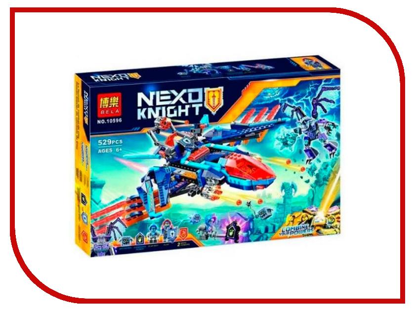 Конструктор Bela Nexo Knight Самолёт-истребитель Сокол Клэя 529 дет. 10596 lego nexo knights 70351 лего нексо самолёт истребитель сокол клэя