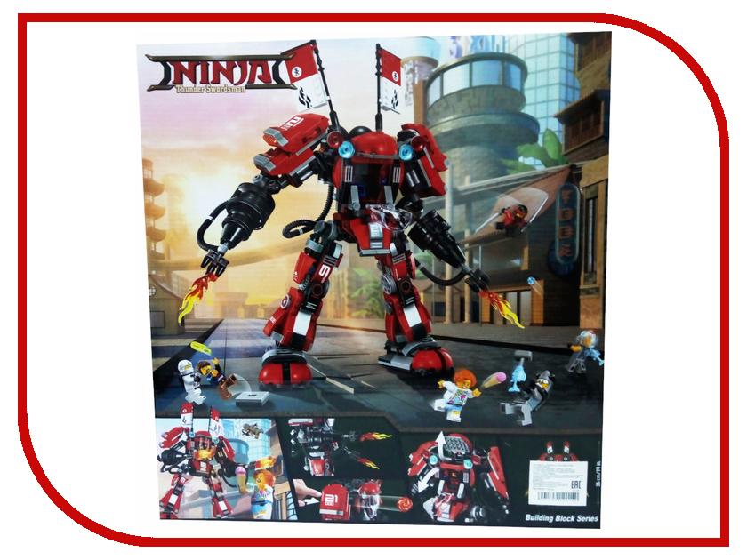 Конструктор Bela Ninja Огненный робот Кая 980 дет.10720 конструктор bela ninja ниндзя сверхзвуковой рейдер 645 дет 31041