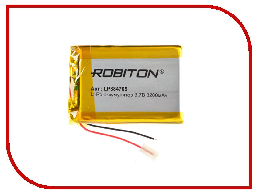 Аккумулятор LP884765 - Robiton 3.7V 3200mAh 14911 / LP3200-884765 другой robiton sn500s 220вт