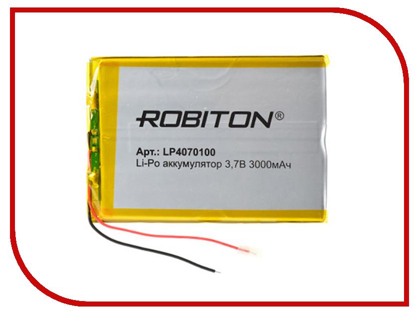 Аккумулятор LP4070100 - Robiton 3.7V 3000mAh 14912