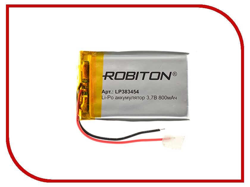 Аккумулятор LP383454 - Robiton 3.7V 800mAh 14891