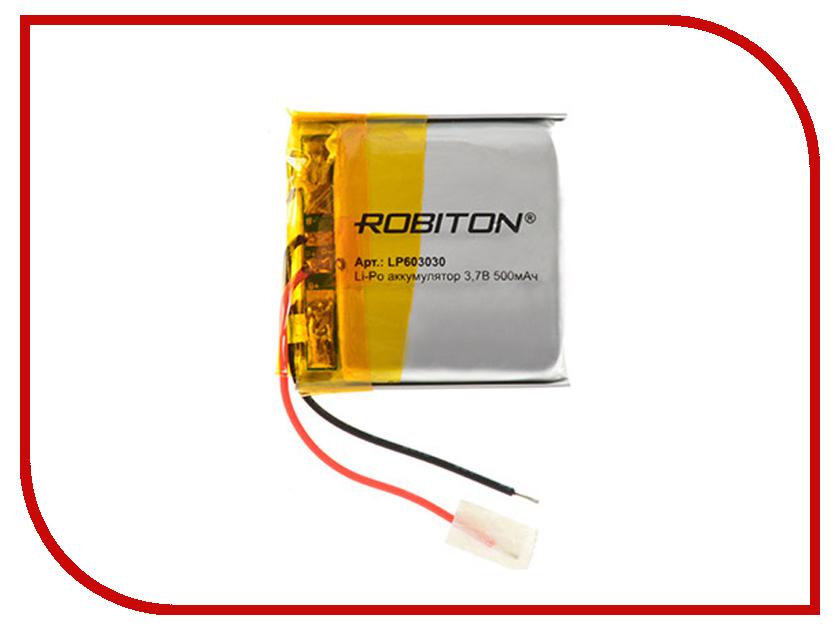 Аккумулятор LP603030 - Robiton 3.7V 500mAh 14905
