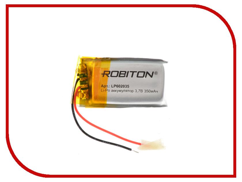 Аккумулятор LP602035 - Robiton 3.7V 350mAh 14904 аксессуар аккумулятор robiton dect t160 3xaa