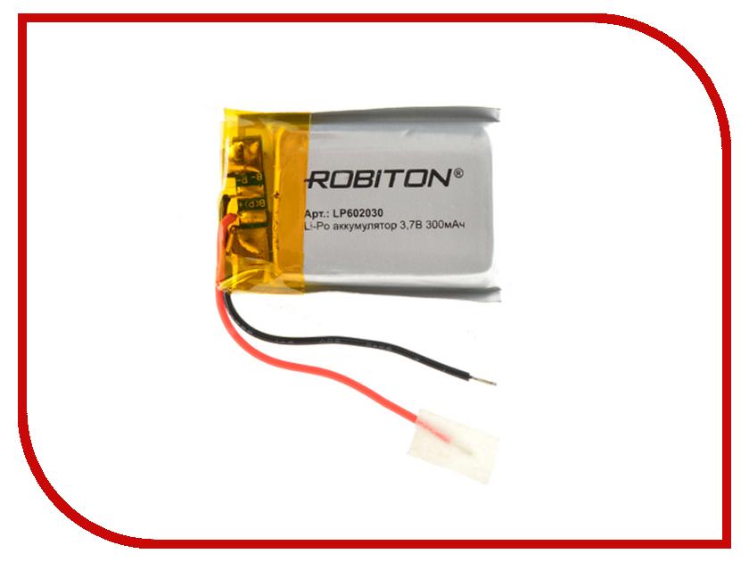 Аккумулятор LP602030 - Robiton 3.7V 300mAh 14903 от Pleer