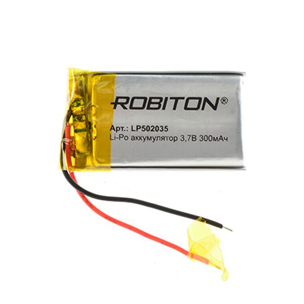 Аккумулятор LP502035 - Robiton 3.7V 300mAh 14899