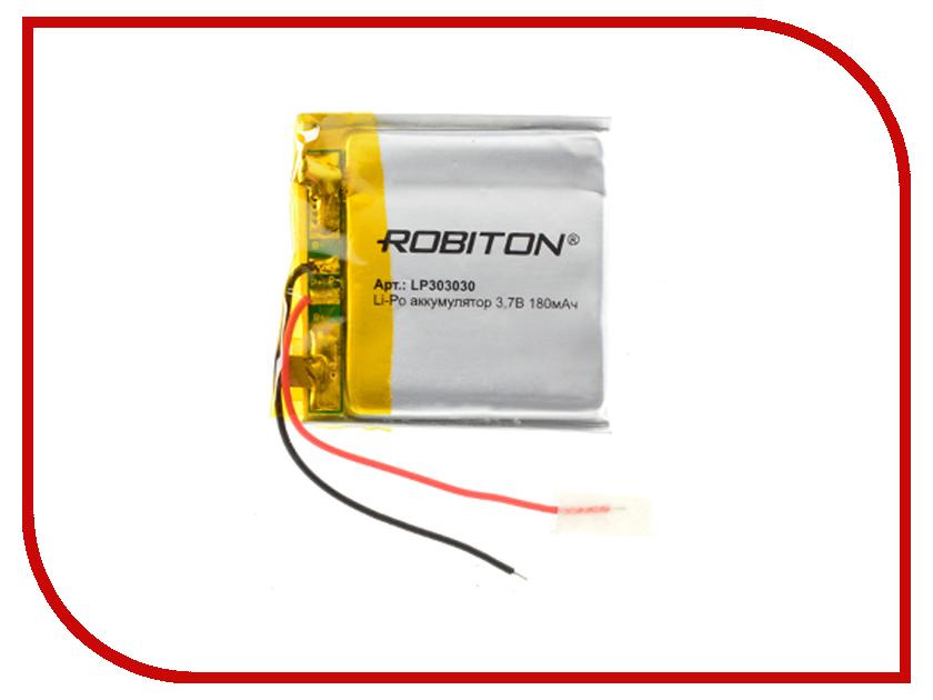 Аккумулятор LP303030 - Robiton 3.7V 180mAh 14889