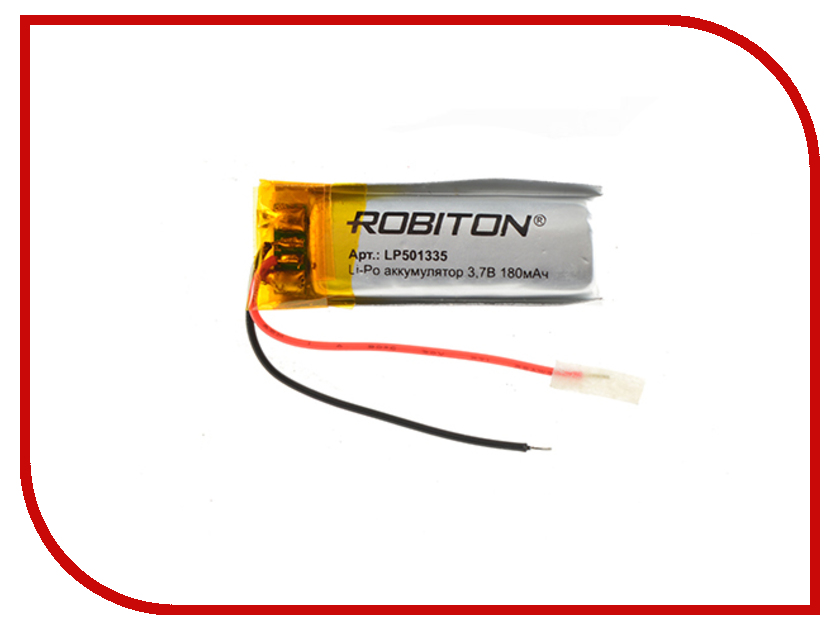 Аккумулятор LP501335 - Robiton 3.7V 180mAh 14897
