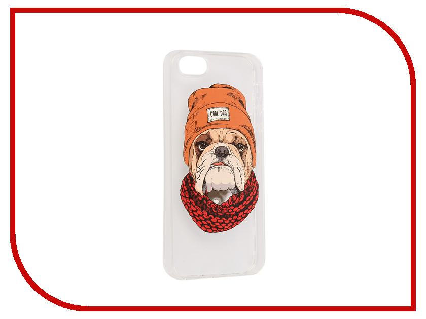 цена на Аксессуар Чехол iPapai Питомцы Cool Dog Silicone для APPLE iPhone 5 / 5S