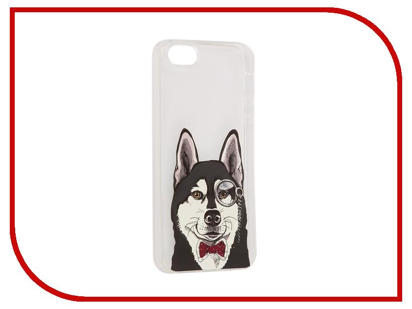цена на Аксессуар Чехол iPapai Питомцы Хаска Silicone для APPLE iPhone 5 /5S