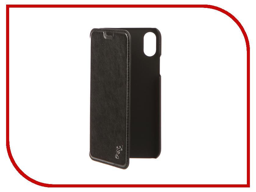 Аксессуар Чехол G-Case Slim Premium для APPLE iPhone X Black GG-903 g case slim premium чехол для apple iphone 7 black