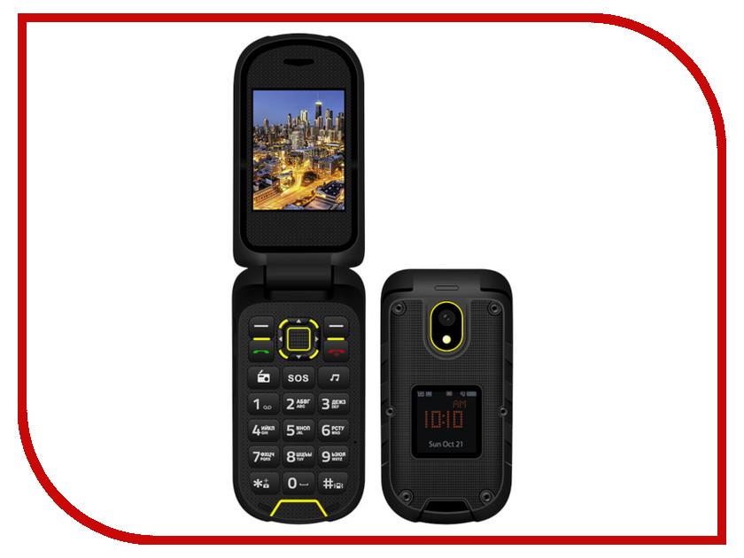 Сотовый телефон VERTEX K205 Black-Yellow сотовый телефон vertex s106 flip pink