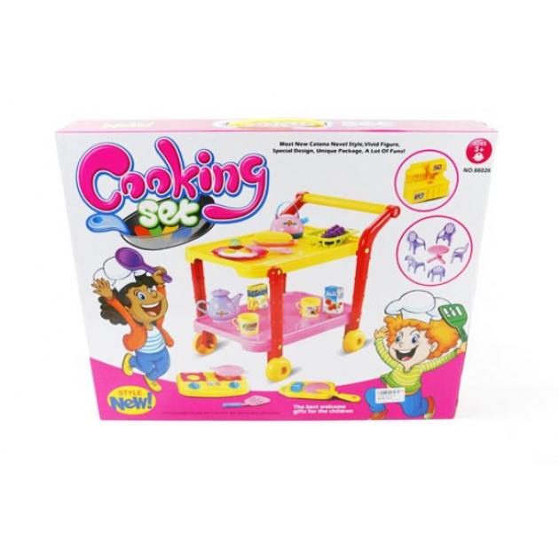 Тележка сервировочная Shantou Gepai / Наша игрушка 66026