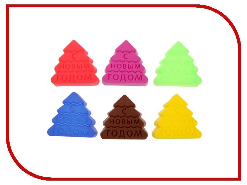 Набор форм для выпечки СИМА-ЛЕНД С Новым Годом 6шт 1660788 набор наклеек с новым годом